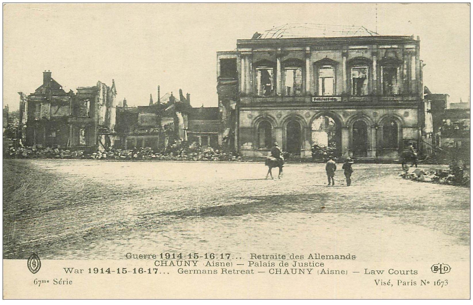 carte postale ancienne 02 CHAUNY. Palais de Justice
