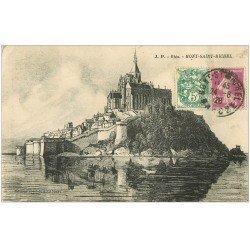 carte postale ancienne 50 LE MONT SAINT-MICHEL 1926