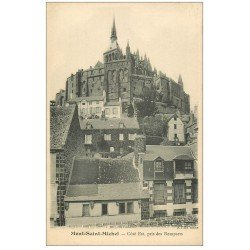 carte postale ancienne 50 LE MONT SAINT-MICHEL Remparts
