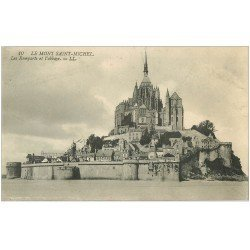 carte postale ancienne 50 LE MONT SAINT-MICHEL Remparts 10