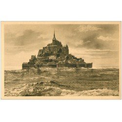 carte postale ancienne 50 LE MONT SAINT-MICHEL. Equinoxe 1