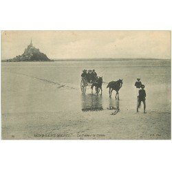 carte postale ancienne 50 LE MONT SAINT-MICHEL. Transports la voiture de Genets 99