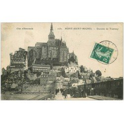 carte postale ancienne 50 LE MONT SAINT-MICHEL. Transports Tramway 1910