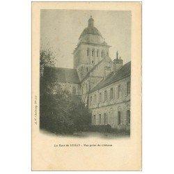 carte postale ancienne 50 LESSAY. La Tour vue du Château