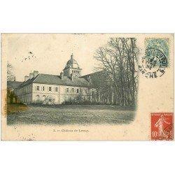 carte postale ancienne 50 LESSAY. Le Château 1904