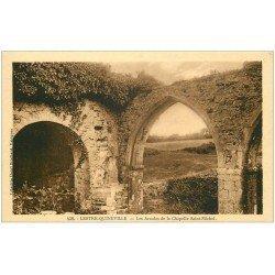 carte postale ancienne 50 LESTRE-QUINEVILLE. Chapelle Saint-Michel