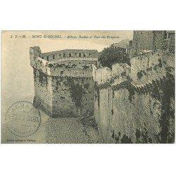 carte postale ancienne 50 MONT-SAINT-MICHEL. Abbaye Bastion 1916