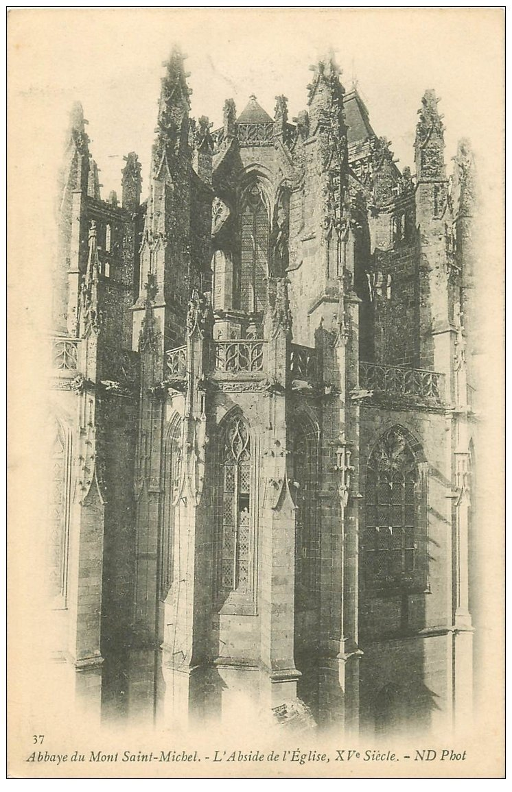 carte postale ancienne 50 MONT-SAINT-MICHEL. Abside Eglise