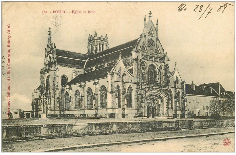 carte postale ancienne 01 BOURG. Eglise de Brou. Ed. Ferrand 1908