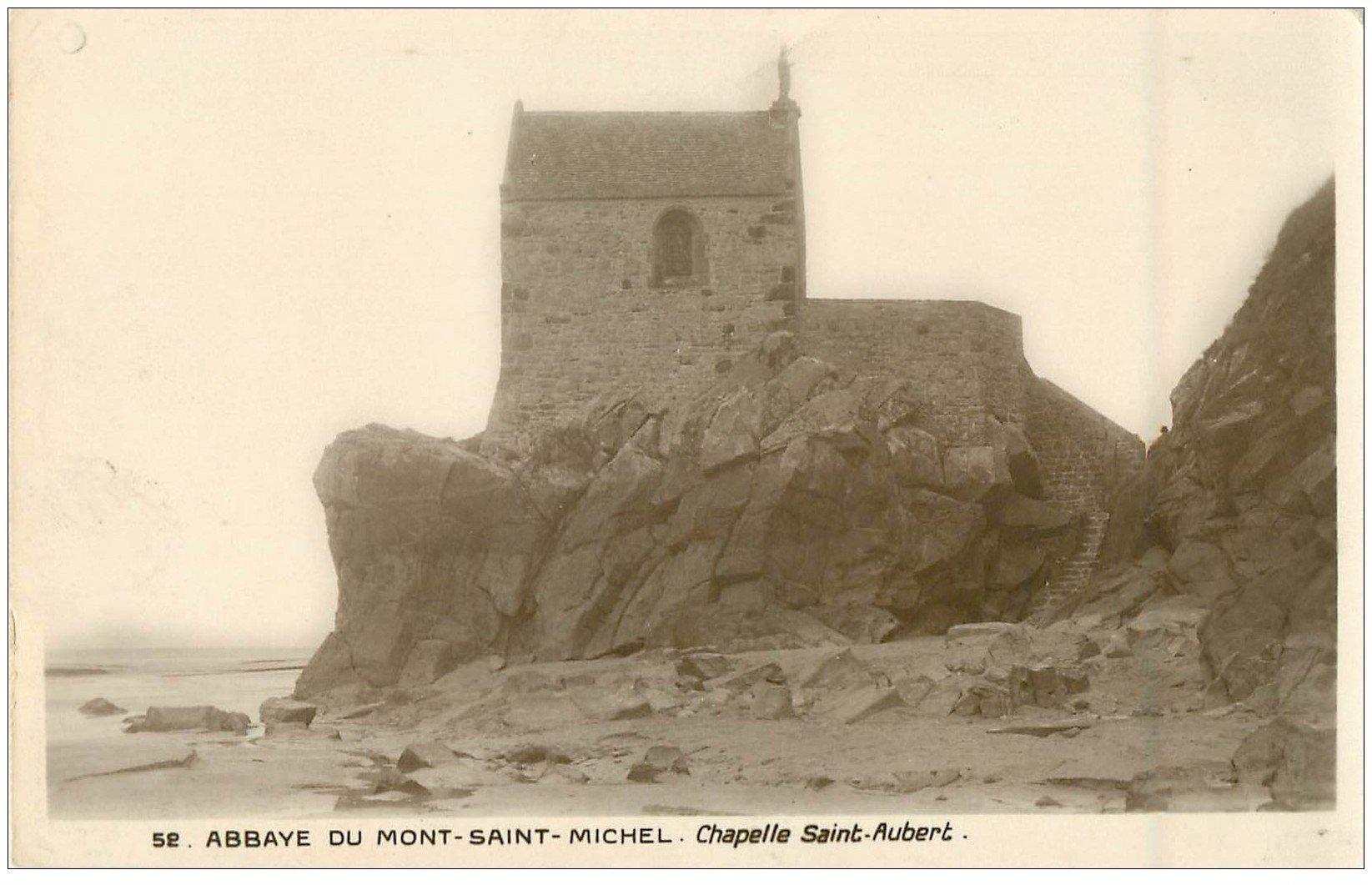 carte postale ancienne 50 MONT-SAINT-MICHEL. Chapelle Saint-Aubert