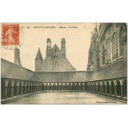 carte postale ancienne 50 MONT-SAINT-MICHEL. Cloître Abbaye 1916