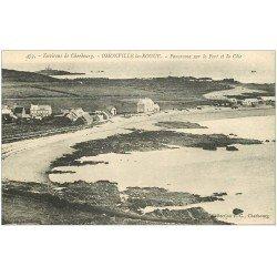 carte postale ancienne 50 OMONVILLE-LA-ROGUE. Port et Côte