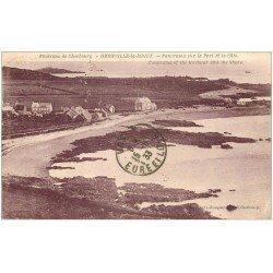 carte postale ancienne 50 OMONVILLE-LA-ROGUE. Port et Côte 1933