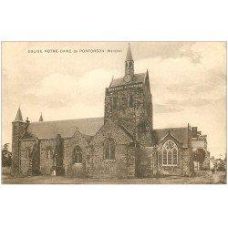 carte postale ancienne 50 PONTORSON. Eglise Notre-Dame