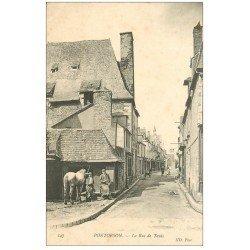 carte postale ancienne 50 PONTORSON. Forgeron et Cheval Rue de Tanis