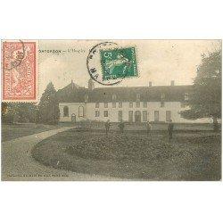 carte postale ancienne 50 PONTORSON. Hospice. Timbre 40 Centimes 1910
