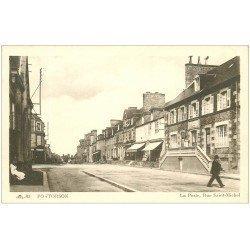 carte postale ancienne 50 PONTORSON. La Poste Rue Saint-Michel