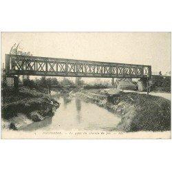 carte postale ancienne 50 PONTORSON. Pont du Chemin de Fer 1922