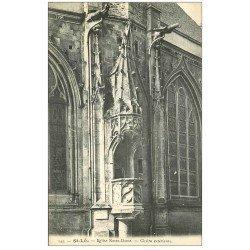 carte postale ancienne 50 SAINT-LO. Chaire extérieur Eglise