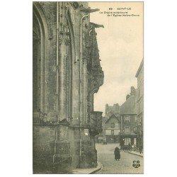 carte postale ancienne 50 SAINT-LO. Chaire extérieur Eglise Notre-Dame