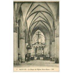 carte postale ancienne 50 SAINT-LO. Choeur Eglise