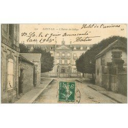 carte postale ancienne 50 SAINT-LO. Entrée du Collège 1908