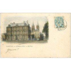 carte postale ancienne 50 SAINT-LO. Hôtel de Ville. Pour Granville 1904