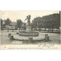 carte postale ancienne 50 SAINT-LO. Laitière Place des Beaux-Regards 1904
