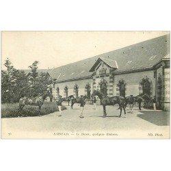 carte postale ancienne 50 SAINT-LO. Le Haras Militaire avec Chevaux Etalons 1917