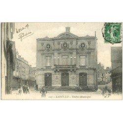 carte postale ancienne 50 SAINT-LO. Le Théâtre Municipal 1917