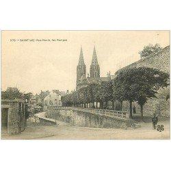 carte postale ancienne 50 SAINT-LO. Les Rampes Rue Havin
