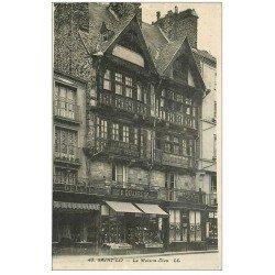 carte postale ancienne 50 SAINT-LO. Maison-Dieu Librairie Papeterie Imprimerie