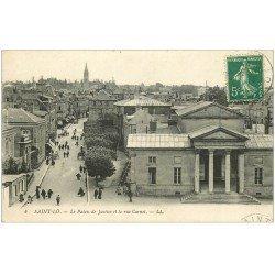 carte postale ancienne 50 SAINT-LO. Palais de Justice Rue Carnot