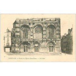 carte postale ancienne 50 SAINT-LO. Portail Eglise Notre-Dame vers 1900