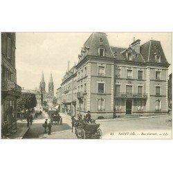 carte postale ancienne 50 SAINT-LO. Rue Carnot
