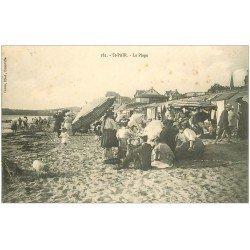 carte postale ancienne 50 SAINT-PAIR-SUR-MER. La Plage 1906