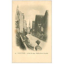 carte postale ancienne 50 SAINT-PAIR-SUR-MER. Rue Saint-Anne
