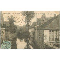carte postale ancienne 50 VILLEDIEU. Bords de la Sienne 1905