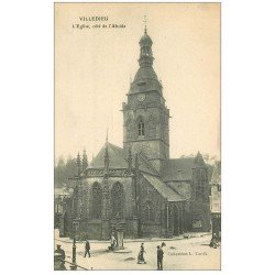 carte postale ancienne 50 VILLEDIEU. Eglise Abside
