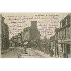 carte postale ancienne 50 VILLEDIEU. Rue Haute et Basse 1904