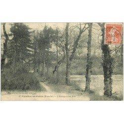 carte postale ancienne 50 VILLEDIEU-LES-PEOLES. Etang et Bois 1922