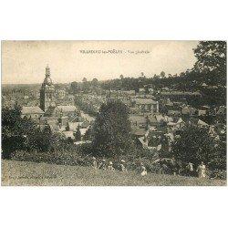 carte postale ancienne 50 VILLEDIEU-LES-PEOLES. Fermière Vache et Enfants dans les Prés 1930