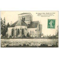 carte postale ancienne 52 BANNES. Eglise et Cimetière 1915