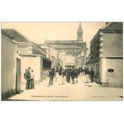 carte postale ancienne 52 BOURBONNE-LES-BAINS. Militaires Rue d'Orfeuil