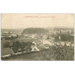 carte postale ancienne 52 BOURBONNE-LES-BAINS. Vue générale 1904