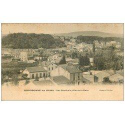 carte postale ancienne 52 BOURBONNE-LES-BAINS. Vue générale côté de la Gare