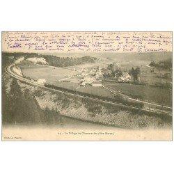 carte postale ancienne 52 CHAMARANDES. Le Village et le Train 1903