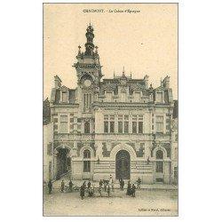 carte postale ancienne 52 CHAUMONT. Caisse d'Epargne. timbre Taxe 1916