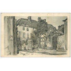 carte postale ancienne 52 CHAUMONT. Carte réponse Chemins de Fer. Illustration de Weismann 1942