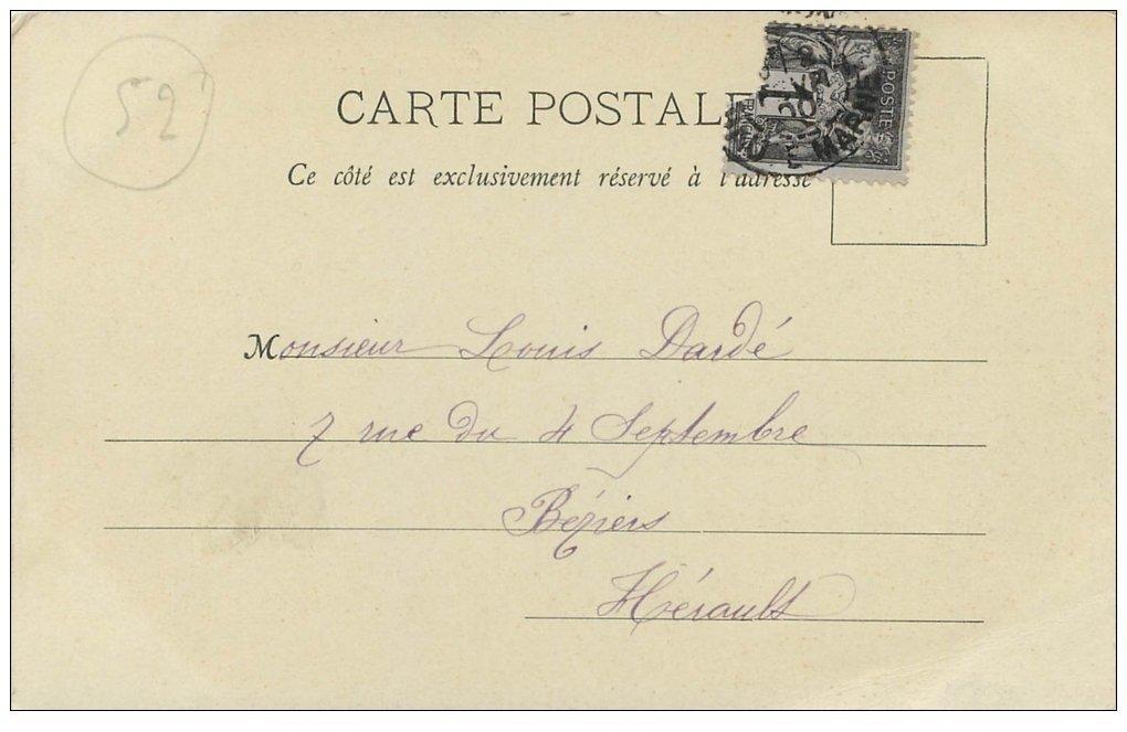 carte postale ancienne 52 CHAUMONT. Le Lycée. Timbre 1 Centime 1900